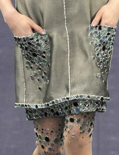 Garment Detail, Chanel - pockets, hem edges and stockings...richly embellished