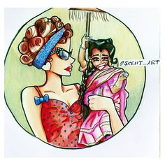 Ma Petit & Amazon Eve ~ American Horror Story Freakshow ~ colored pencil and ink drawing, cartoon / anime Amazon Eve, Me Anime, American Horror Story, Caricature, Colored Pencils, Disney Characters, Fictional Characters, Doodles, Ink