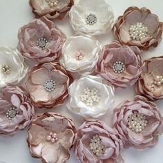 One Bouquet Flower Unattached Loose DIY by TheVintageCabbgeRose