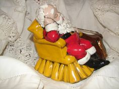 Christmas Vintage Ceramic Santa Seated on by NopalitoVintageMore, $20.00
