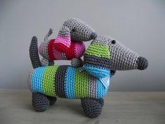 amigurumi dachshunds