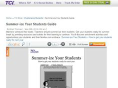 Summer-ize Your Students Guide http://blog.teachtci.com/summer-ize-your-students-guide/
