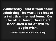 Terry Pratchett quote from This Goofy Broad.