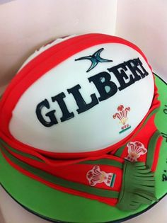 Welch Rugby themed cake - For all your cake decorating supplies, please visit craftcompany.co.uk