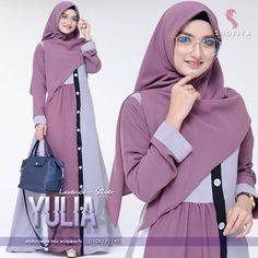Yulia dress Only Reseller get disc Bahan mosscrepe Ld 102 Fit L+ Or. by muslimah Hijab Fashion, Fashion Beauty, Fashion Dresses, Womens Fashion, Casual Hijab Outfit, Hijab Chic, Muslim Dress, Hijab Dress, Long Dress Patterns