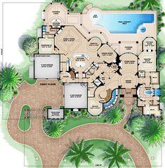 Florida Mediterranean House Plan   Exercise Rooms  House and    Florida Mediterranean House Plan   Exercise Rooms  House and House plans