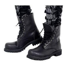 Discount Black Steam Punk Steampunk Goth Fashion Biker Western Boots Men $189.99