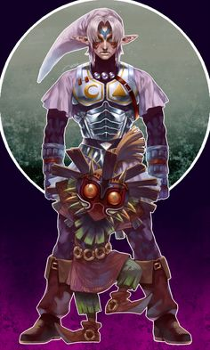 Fierce Deity Link and Skullkid with Majoras Mask