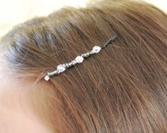 Checker Board Bobby Pins Wire Wrapped Seed Beads Swarovski Crystal Hair Accessory Fashion LoveandCherish