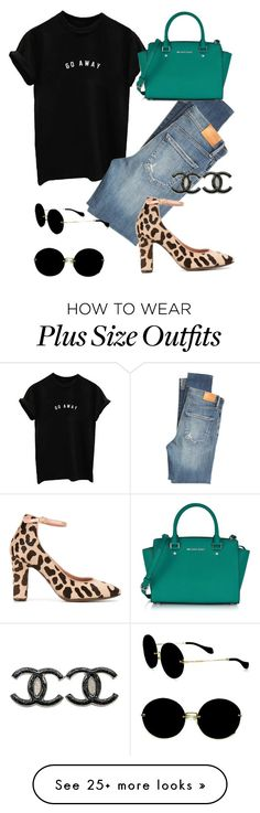 """""""Pushing through"""" by christawallace on Polyvore featuring Citizens of Humanity, L'Autre Chose, Chanel, Miu Miu and Michael Kors"""