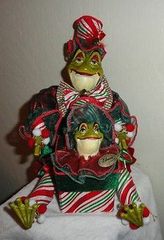 "Katherine's Collection Sankyo Musical & Moving Frog 10"" High VGC"