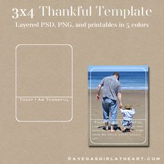 A Vegas Girl at Heart: Freebie Week: Thankful Template & Printables 3x4, perfect for Project Life albums. #projectlife
