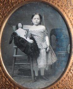 1 6 PL Daguerreotype Girl with Her Wax Over Papier Mache Doll | eBay