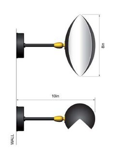 Take a closer look at the simple and practical Eye Sconce lamp.