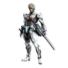 Limited Edition Square Enix Play Arts Kai Raiden White Armor Ver. | GundamModelKits.com