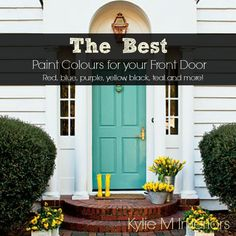 From red, burgundy and blue, to teal, yellow and black - find the best paint colour for your front door with these great ideas and selections