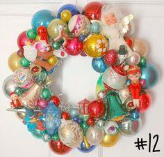 https://flic.kr/p/8Nxi8A   Vintage Ornament Wreath Shiny Brite   www.georgiapeachezwreaths.com