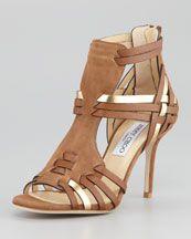 jimmy choo - natural sandal
