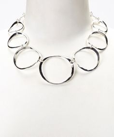 Look at this #zulilyfind! Sterling Silver Graduated Circle Link Necklace #zulilyfinds
