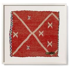 One of a kind, vintage Moroccan Berber framed handmade textiles from St. Frank.
