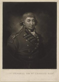 Sir William Erskine, print by Samuel William Reynolds I and later painted by Richard Cosway. (Date Unknown)