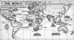 The World According to Doyle    In the 1940s Dr. Julian Wolff, BSI created a series of maps with Sherlockian and Doylean sites of interest. This is his map of the world.