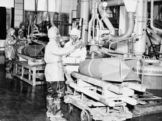 These unidentified German workers in Decontamination clothing destroy toxic bombs on June at the U. Army Chemical Warfare Service Depot, at St. D Day Invasion, Rare Historical Photos, Pearl Harbor Attack, Ww2 Tanks, War Machine, Vietnam War, Us Army, World War Two, Warfare