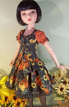 Autumn Flowers set for Tonner ELLOWYNE Wilde by wickedstitchery, $45.00