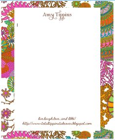 Beautify your emails with monogrammed digital stationery by Meeble Mail. Lots of cute patterns, designs and motifs.