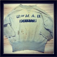 1940's University of Maryland Boxing double V crew sweat