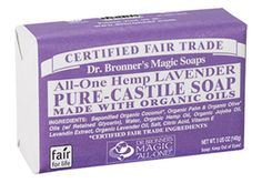 Can I use this as a body/face/shampoo soap? Lavender Castile Bar Soap - 5 oz.