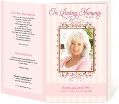 Downloadable Funeral Bulletin Covers | Creative Memorials with Funeral Program Templates236