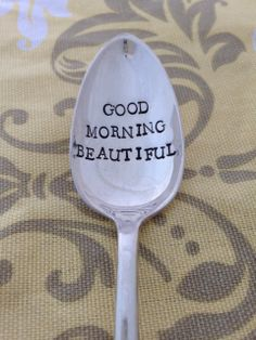 Good Morning Beautiful Vintage Silver Plated by SilverBlissShop