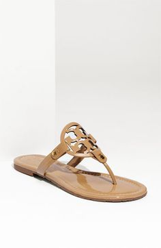 Free shipping and returns on Tory Burch 'Miller' Sandal at Nordstrom.com. Breezy, cleanly styled sandal features a bold logo cutout on the instep.