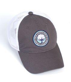 e9dd76d303603 Mesh Back Logo Hat in Charcoal White Southern Shirt Company