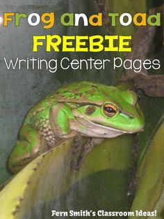 #FreebieFriday ~ FREE Frog and Toad Writing Center Printables  #FREE #TPT #TeachersFollowTeachers