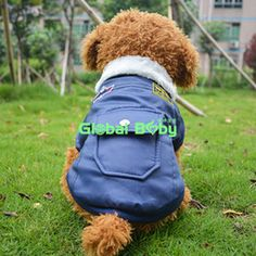 (10Pieces Lot)Free Shipping USA Air Force Uniform Style Dog Coat Two Legs Thicken Jacket Clothes for Pets Dogs with Fur Collar
