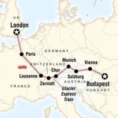 London to Budapest by rail, including the Glacier Express. Hop aboard Europe's magnificent train rides, from £1999 - £2269 (13 days)  ex flights. Run by a specialist tour operator