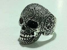 sugar skull pack FLOWER FINGER punk sterling silver by silver999, $59.99?.....love this ring
