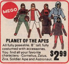 Everything about the mighty PLANET OF THE APES saga, from the original novel, via the classic films of the and right up to the 2011 reboot. Vintage Space, Vintage Toys, Vintage Stuff, Pierre Boulle, Scary Films, Go Ape, Childhood Toys, 1970s Childhood, Space Toys