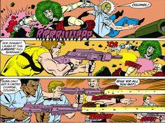 Suicide Squad fighting Darkseid's Female Furies Mad Harriet