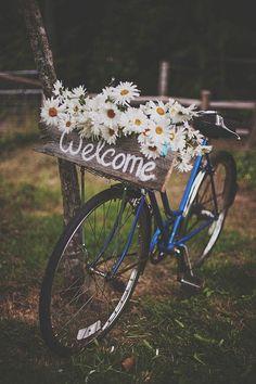 Decoração de Casamento Rústico com Bicicleta | Rustic Wedding Decor with bicicle