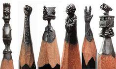 Έχουμε δει γλυπτά σε ξύλο, σε πυλό, σε σίδερο, αλλά γλυπτά σε μόλυβδο από την μύτη του μολυβιού είναι κάτι πρωτόγνωρο για όλους. Οι καλιτέχνες αυτοί μπορούν να σχεδιάσουν γλυπτά με πολλύ μεγάλη ακρίβεια σε πολλύ μικρό μέγεθος. Για του λόγου το αληθές δείτε τις παρακάτω φωτογραφίες. Έργα της Cindy Chinn Έργα του Salavat Fidai …