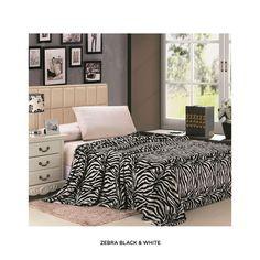 Zebra Print Microplush Blanket - Assorted Colors