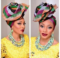 When Avant Garde Gele meets Aso Ebi, we can't stop looking at the outcome! The Avant Garde Gele is the latest gele trend, as more unique and creative aso ebi… African Print Fashion, Fashion Prints, Fashion Design, African Prints, Turban, Aso Ebi Styles, Native Style, African Wear, African Beauty
