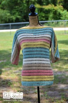 Simple double crochet tunic, can't get any easier.