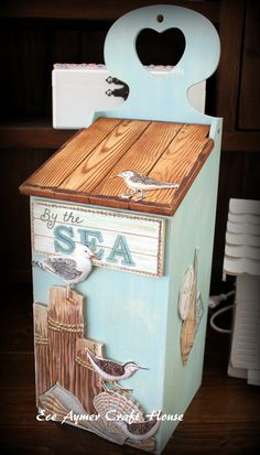 eceaymer.com Decoupage Wood, Decoupage Furniture, Painted Furniture, Decorative Household Items, Decorative Storage, Lace Painting, Wood Painting Art, Wooden Art, Wooden Boxes