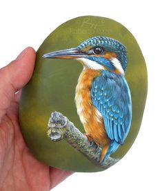 My hand painted stones are unique pieces of art. I paint all of them on smooth sea rocks with high quality acrylics and tiny brushes. They may be used as a paper-weight to cheer up your desk, lucky charms, decoration for furniture and gardens or whatever you desire.  I paint all of them with high quality acrylics and very small brushes. They are painted on smooth sea stones, FINELY DETAILED, protected with a strong transparent varnish coat, signed on the back and accompanied by a CERTIFICATE…