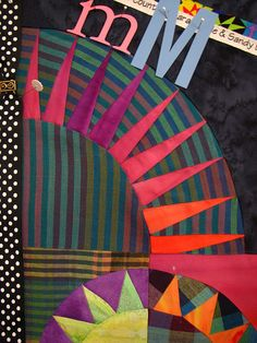 New York Beauty quilt block, nice work with the stripes