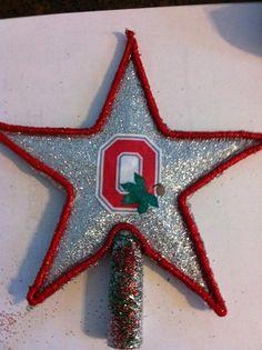 Ohio State Buckeyes Christmas Tree Topper by Jewlsbasement on Etsy, $12.99